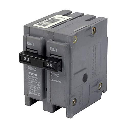 Cutler-Hammer BRH250 Type BR Thermal Magnetic Circuit Breaker, 120/240 VAC, 50 A, 22 kA Interrupt, 2 Poles, Common Trip