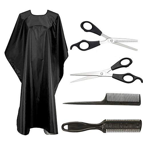 Tijeras de peluquería profesional con delantal