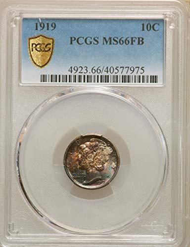 1919 Mercury Dime 10C MS66 PCGS