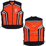 PROANTI Motorrad Warnweste Sicherheitsweste Motorrad Quad Neon Weste Größe 3XL