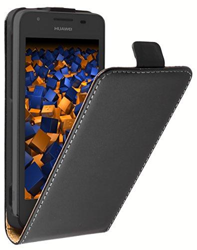 mumbi Tasche Flip Hülle kompatibel mit Huawei Ascend G525 Dual Hülle Handytasche Hülle Wallet, schwarz