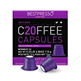 Bestpresso Coffee for Nespresso Original Machine 120 pods Certified Genuine Espresso Intenso Blend(High Intensity), Pods Compatible with Nespresso Original 60 Days Satisfaction Guarantee