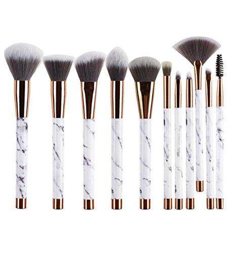 Hoggenoly 11-teiliges Make-up-Pinsel-Set für Puder, Foundation, Lidschatten, Lippen,...