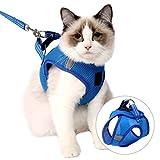 360 ° enveloppant la poitrine et le dos, le harnais pour chat est fait d'un matériau en maille doux, confortable et respirant, ce harnais s'adaptera étroitement à la poitrine du chat, apportera un confort et une protection supplémentaires à votre cha...