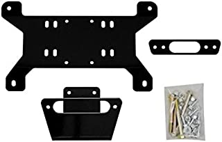 SuperATV Heavy Duty Winch Mounting Plate for Can-Am Maverick/X MR/X RS/DPS/MAX (See Fitment) - For Use With SuperATV Black Ops Winches