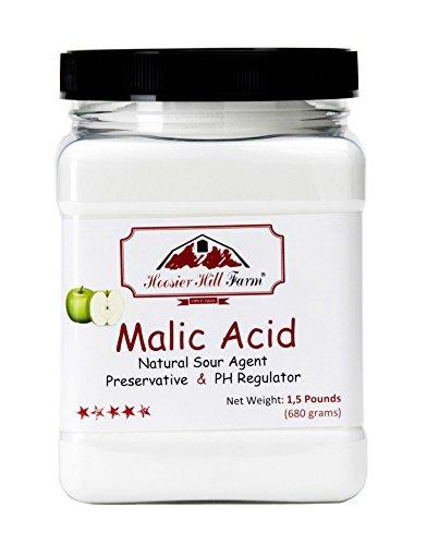 Apfelsäure Pulver Malic Acid (680g) Malic Acid Food Ingredient by Hoosier Hill Farm