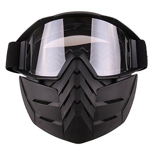12che Tactical Maske Soft Bullet Dart Schutzspiegel Taktische Schutzmaske für Nerf -Transparent