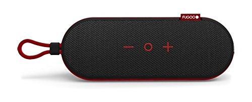 Fugoo Go Portable Bluetooth Speaker (Black/Red) Shock-Proof, dust-Proof and 100% Waterproof