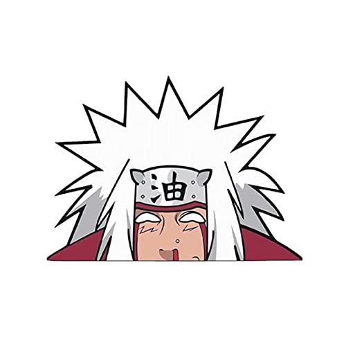 Saicowordist Naruto Cartoon Anime Adesivi per auto, Peeker, adesivi in vinile per finestre, bagagliaio, paraurti, computer, porta adesivo impermeabile (14 x 10 cm Jiraiya)