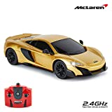 CMJ RC Cars McLaren 675LT Officially Licensed Remote Control Car 1:24 Scale Working Lights 2.4Ghz Gold