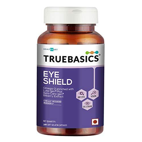 TrueBasics Eye Shield with Lutein, Zeaxanthin & Omega-3 for dry eyes, 30 capsules