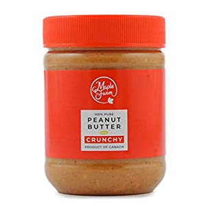 MapleFarm - Mantequilla de cacahuete 100% pura - CRUNCHY - 325g - 100% Pure peanut butter - Sin gluten. Sin azúcares añadidos. Apta para veganos. Sin aceite de palma.