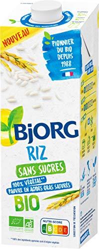 Bjorg Boisson Végétale Riz Bio Sans Sucres – À Boire et à Cuisiner – Petit-Déjeuner et Goûter - 1 L
