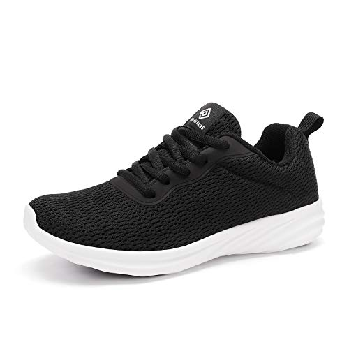 DREAM PAIRS Women's Black White Lightweight Walking Sneakers Mesh Tennis Shoes Size 9 M US Rider
