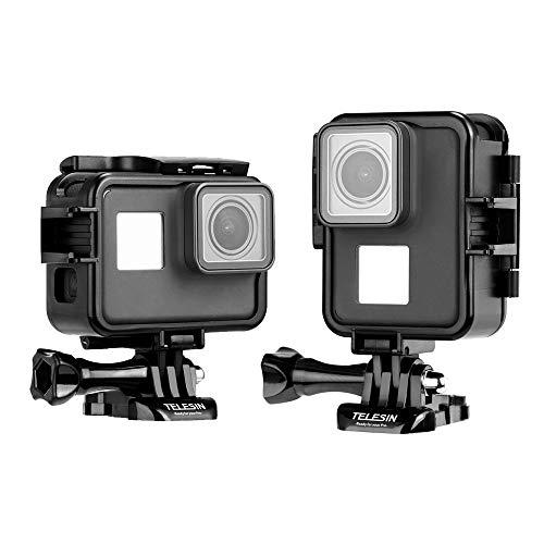 TELESIN Orizzontale e Verticale Custodia Protettiva Telaio con Fibbia a Sgancio Rapido e Vite per GoPro Hero 2018 Hero 7 Hero 6 Hero 5 Action Cameras