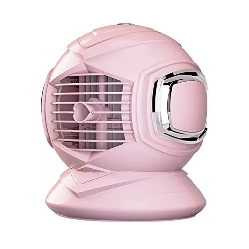 Hansensi - Mini climatizzatore portatile 3 in 1, portatile, portatile, portatile, portatile, con nebulizzatore, mini refrigeratore d'aria, umidificatore a forma rotonda, per camera (rosa)