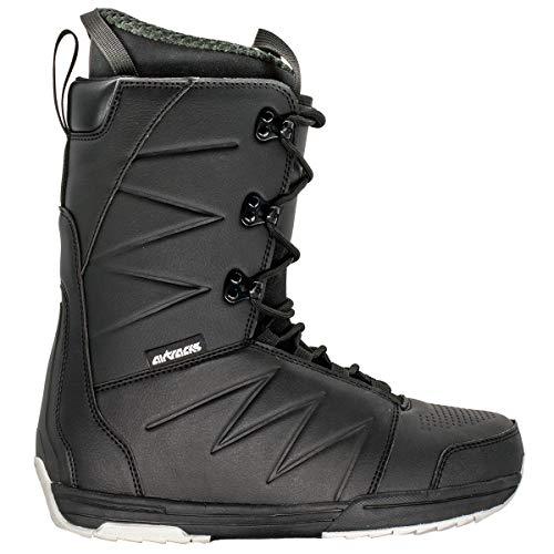 AIRTRACKS Snowboard Boots Star Black - Snowboardschuhe - Snowboardboots - Alle Größen - Schwarz (43)