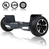 UNI-SUN Off Road Hoverboard for Kids, All Terrain Hoverboard with Lights, 8.5 Inch Two-Wheel Self Balancing Hoverboard for Adult,UL2272 Certified Hover Board-Gray