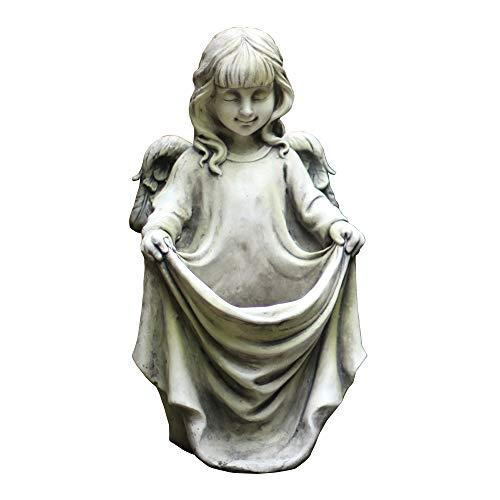 TY&WJ Indoor Outdoor Angel Plant Pot,Antique Stone Effect Flower Girl Sculptures,Greek Cherub Statues Succulent Planter Vase Plant Holder Birdfeeder For Garden