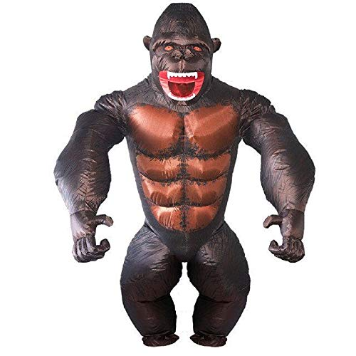 Adult Gorilla Inflatable Costume - Halloween Inflatable Costume Orangutan Gibbon Chimp Monkey Fancy Dress Blow Up Suit