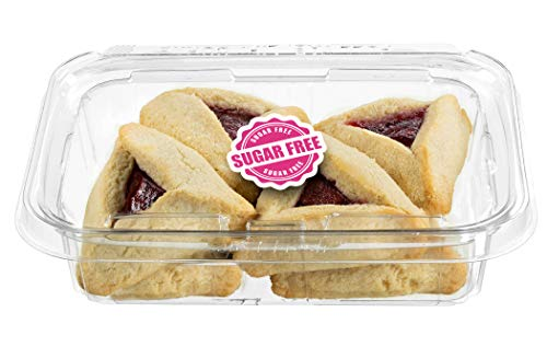 Sugar Free Strawberry Filled Hamentaschen Cookies   Diabetic Cookies for Adults   Low Cholesterol & Low Sodium   Sugar Free Cookies and Snacks   8 Gourmet Cookies Included   7 oz Stern's Bakery