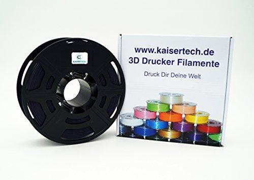 Kaisertech filament voor 3D-printer, 1 kg, ABS, 1,75 mm Dusk, premium kwaliteit, spoel, rol