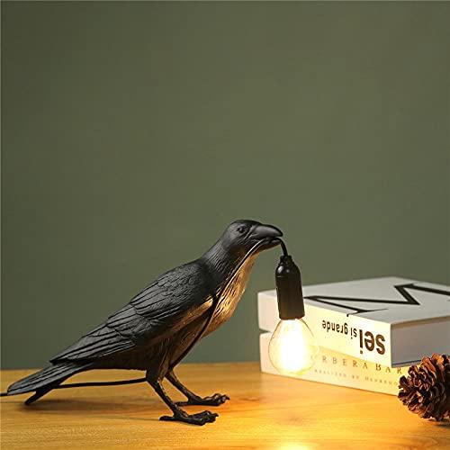 Lámpara de noche en forma de pájaro para dormitorio para dormitorio Seletti design deco para oficina juego de sala de estar negro de pie
