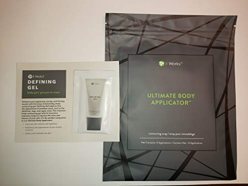 It Works Ultimate Body Wrap Applicator 4-pack and mini defining gel