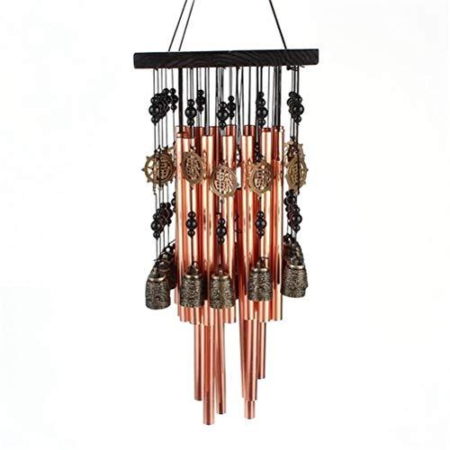 zaizai Campana de viento para interior y exterior de metal con campana de cobre para decoración de patio, jardín, terraza, 80 cm
