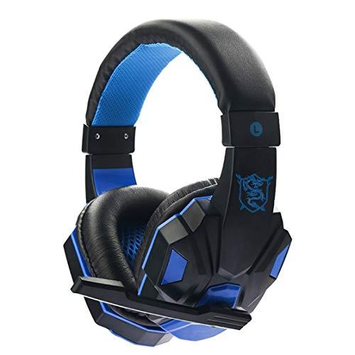 Candyboom SY830MV 3.5mm Gaming Headset Sonido Envolvente sobre Oreja Juego Gaming Auriculares Auriculares Estéreo Micrófono Auricular