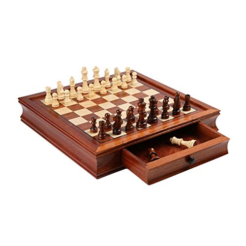 ZKL shop Juego de ajedrez de Madera magnética, Conjunto de Tablero de ajedrez magnético de Viaje con cajón, Juguetes educativos, Principiantes y Adultos, (tamaño : 41cm)