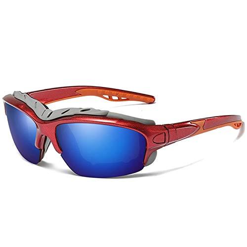 Gafas De Sol Polarizadas para Deportes De Ciclismo Al Aire Libre, Gafas De Sol Protectoras Polarizadas Coloridas Anti-Ultravioleta,F
