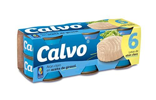 Calvo Atún Claro en Aceite Vegetal, 6 x 83.33g
