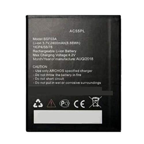 Backupower Ersatz 3.7V 2400mAh 8.88WH AC55PL BSF03A Akku Kompatibel mit ARCHOS 55 Platinum Ersatzakku Handy Smartphone