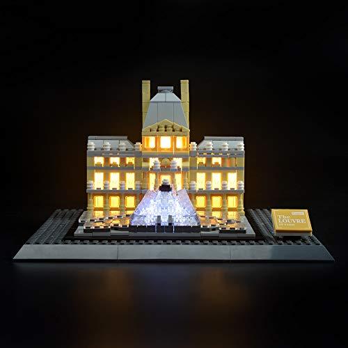 LIGHTAILING Licht-Set Für (Architecture Louvre) Modell - LED Licht-Set Kompatibel Mit Lego 21024(Modell Nicht Enthalten)