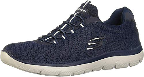 Skechers Herren Summits Slip On Sneaker, Blau (Navy Mesh/Trim NVY), 43 EU