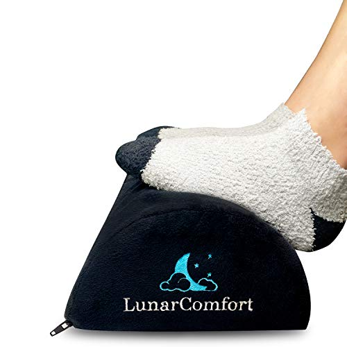 Lunar Comfort Under Desk Foot Rest   Ergonomic Office Footrest for Leg Circulation and Posture Correction   Premium Foam Foot Rest Adjustable for Office Chair   Feet Rest for Couch and Travel