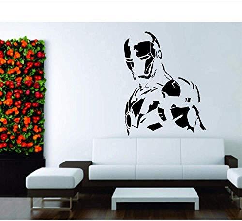2018 nueva habitación infantil etiqueta de la pared calcomanía vinilo decoración mural Iron Man Super S Fighter Symbol 55 * 70 cm