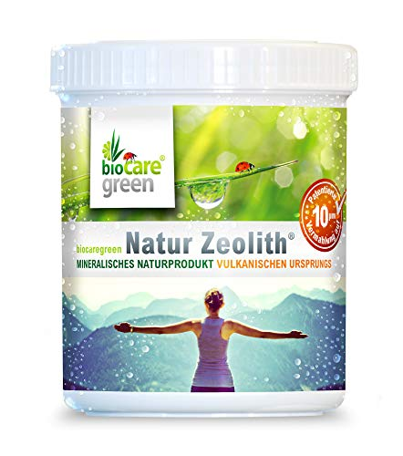 Biocaregreen Natur Zeolith ® 10 µm 250 g | Weltweit patentiertes Vermahlungsverfahren auf garantierte 10 μm | Qualitätsprodukt Made in Germany