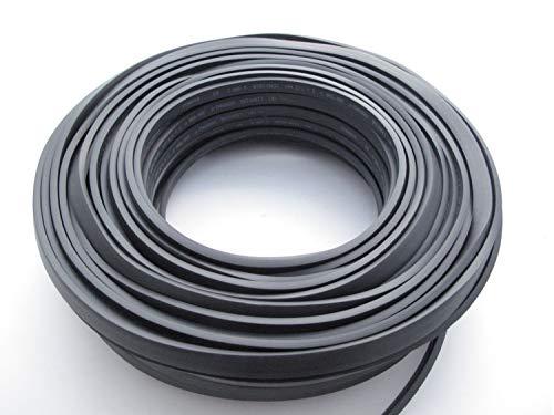 50 M Schwarzes Illu Kabel - Lichterkette Kabel Illukabel H05RNH2-F 2x1,5 Flachkabel
