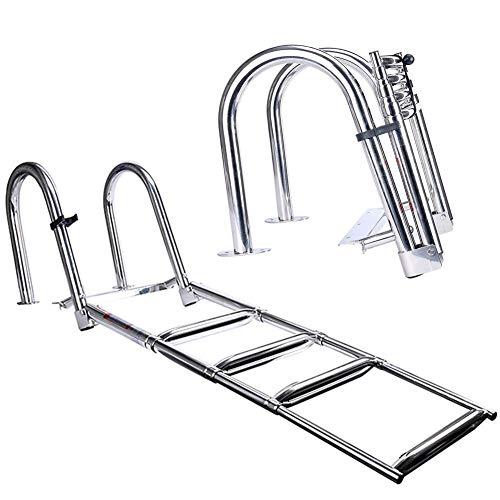 GYPPG Escalera de baño Escalera de Piscina de 4 peldaños, Acero Inoxidable...