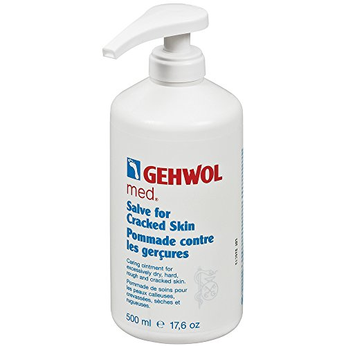 Gehwol Med Salve For Cracked Skin Kit/Treatment Heavily Callused Brittle Dry And Rought Large Salon Size 05L 500Ml Largest On Amazon Comes With Preserving Pack Dermatologically Tested Made In Germany