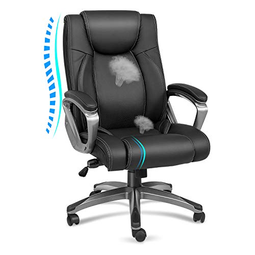 Kealive High Back Executive Office Chair 300lbs, Big and Tall Leather...