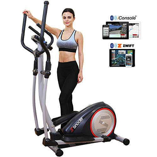 SNODE E20i Elliptical Machine, Electric Magnetic Training Machine with Digital Monitor and Bluetooth...