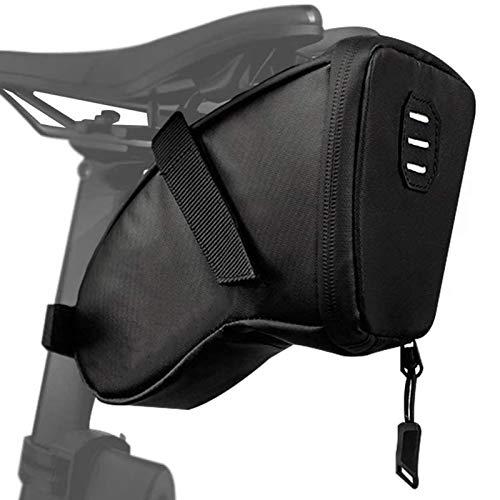 Bolsa de sillín Bicicleta, Bicicleta Impermeable Wedge Pack de Correa-en la Bolsa...