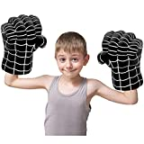Superhero Toys Smash Fists Soft Boxing Gloves Kids Cosplay Plush Toys Pillow Halloween Christmas Costume Party Gifts for Boys Girls (B)