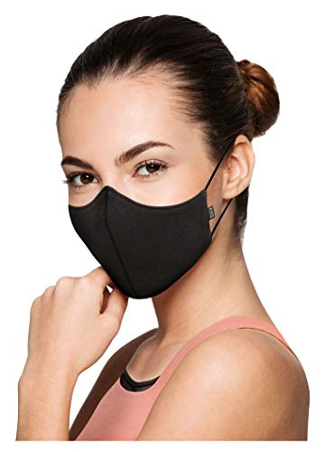 Bloch Soft Stretch Reusable Face Mask (Pack of 3), Black, Adult
