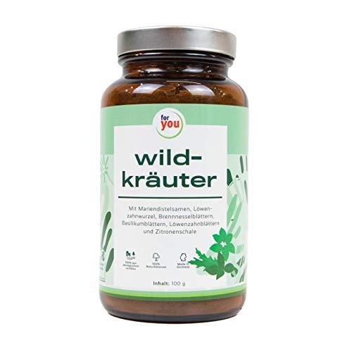 for you Polvo ecológico de hierbas silvestres, 150 g, mezcla de hierbas silvestres domésticas, 100% secadas al aire y naturales, hierbas nutritivas y comestibles de cultivo ecológico sin aditivos.
