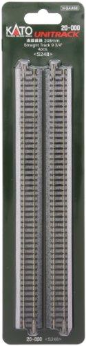 カトー 20-000 直線線路 248mm (4本入)
