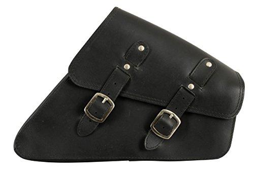 Buffalo bag sacoche triangulaire côté 6 litres (sportster harley davidson modèles 1986–2003 en cuir (noir)